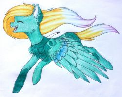 Singing and flying. Quite a combo by Scaevitas