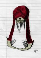 Creepy Skull Doodle Thing by THE-R4GE