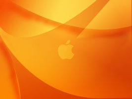 Orange Curves (With apple logo) by 912photoshopking