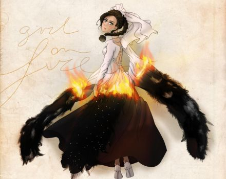 Girl on fire - Song of the rebellion by An-Haruno-Girl