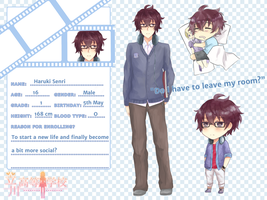 Tachikawa High Application: Haruki Senri by BlackTwin-Shiro