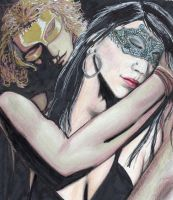 Mascarade: Sun and moon by SandraChapdelaine