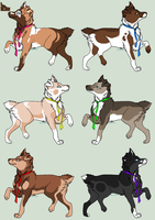 Adoptable Mutt Dawgies - CLOSED by PoonieFox