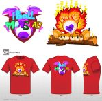 Burning Love (T-Shirt Variant 4) by MGleason