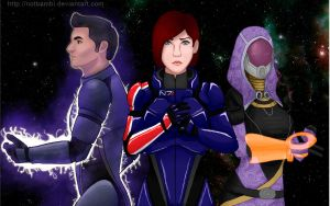 Mass Effect 3 - The Squad by NotBambi