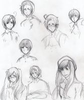 Hetalia sketches by Melodious-Artist
