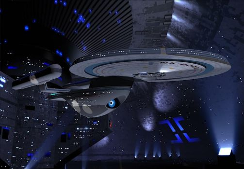 The USS Excelsior NX-2000 by calamitySi