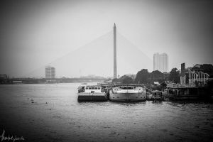 boat bridge by Thanutpat