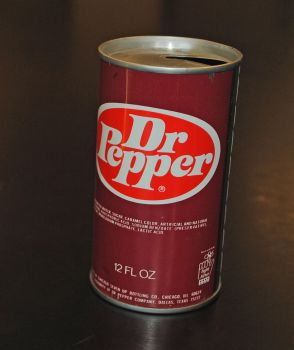 Vintage Dr Pepper Can by eyepilot13