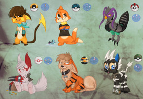 Pokemon ocs by Arkay9