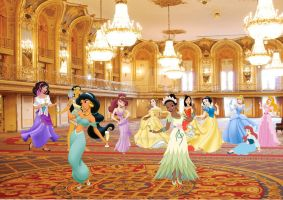 Champagne for the Disney Princesses by SuneeStride