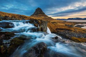 Top of Kirkjufellfoss by porbital
