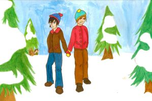 Stan and Cartman by psycobabble402