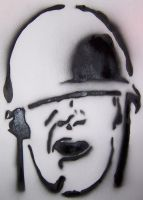 Stencil- The Soldier by theraineydaze