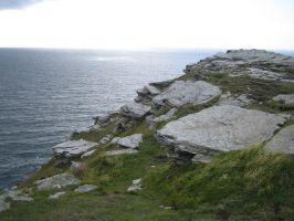 Tintagel Cliff 01 by neverFading-stock