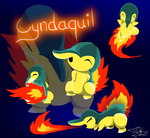 Cyndaquil - 25K Kiriban Request by PNSK