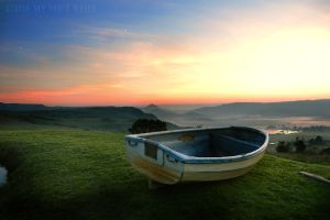 Sad Boat Sunrise by UtopiaSkyPhotoWorks
