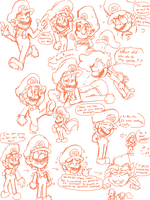 Mario Doodles by bulgariansumo