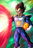 Vegeta on Namek by theharmine