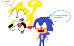 Tails Steals Sonic's Chili Dawg by MobianDashie