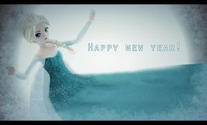 ~Happy new year!~Frozen~ by ElviraMoa