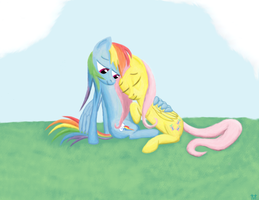 FlutterShy and Rainbow Dash by fonypan
