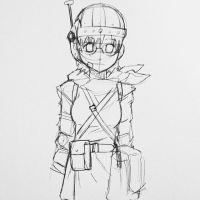 Lucca from Chrono Trigger sketch by CarsonCustom