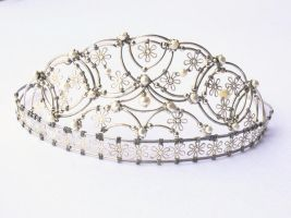 Pearl Wedding Tiara by magnoliaroaddesigns