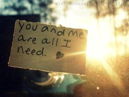 365 Project-Day 52: You ad Me Is All I Need by hourglass-paperboats