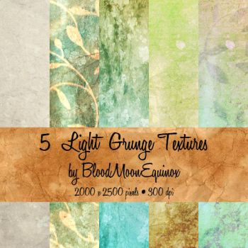 5 Light Grunge Textures by BloodMoonEquinox