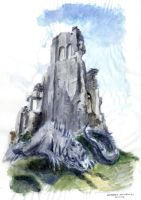 fantasy illustration - watercolor study by AndreaSchepisi