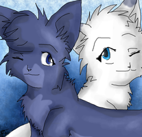 Warrior Cats - Bluestar and Snowfur by Jaystar0214