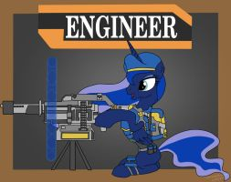 Luna As Engineer by SpazzyMcnugget