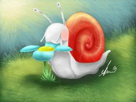 snail by sapphireweasel25