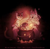 Frankenmaya, Piaffestein and their creature by Pample