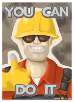 Engineer Motivational Poster (Rowler Edition) by Lilnanny