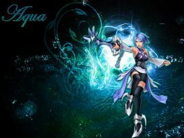 Kingdom hearts Aqua by LumenArtist