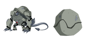 Ultimate Armodrillo and Bone Shell ball form by TheRedJoker351