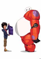Big Hero 6: Hiro Hamada and Baymax by Spartandragon12