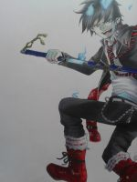 Fancopy ( Ao no exorcist ) Copic test by Yuuki-Tachi
