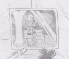 Picture frame-sketch by Cozzbug