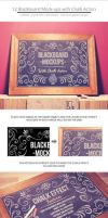 Blackboard / Chalkboard Mock-ups with Chalk Action by NuwanP