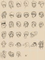 500th sketches OC's by M053AB