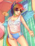 Rainbow Dash : Laze by oceantann