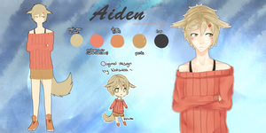 Aiden | Reference Sheet by cloudylicious