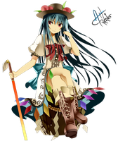 Hinanawi Tenshi Render by Aoi-Heart