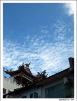 Sky above temple by tarlia