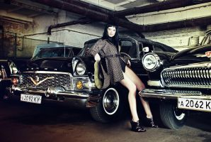 With the old cars by psychiatrique