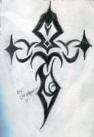 A tribal Cross by theblackalma13