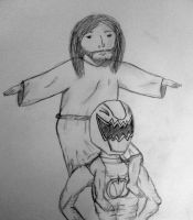 yisus on power ranger (the red in black and white) by thejamiu